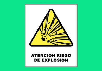 Atención 0023 RIESGO DE EXPLOSION