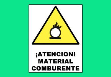 Atención 0313 ¡ATENCION! MATERIAL COMBURENTE
