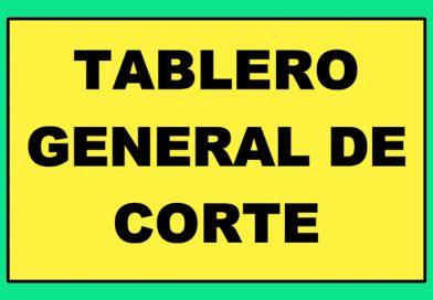 Atención 0353 TABLERO GENERAL DE CORTE