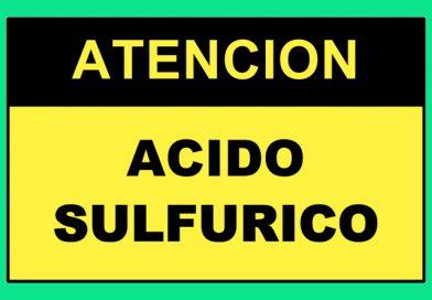 Atención 4354 ACIDO SULFURICO