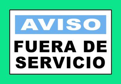 Aviso 3339 FUERA DE SERVICIO