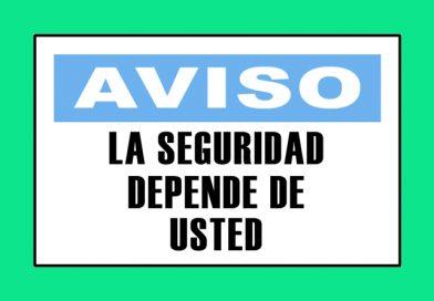 Aviso 3340 LA SEGURIDAD DEPENDE DE USTED
