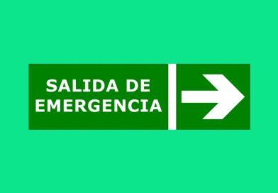 Evacuación 087 SALIDA DE EMERGENCIA