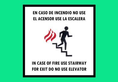 Evacuación 161 EN CASO DE INCENDIO NO USE EL ASCENSOR USE LA ESCALERA