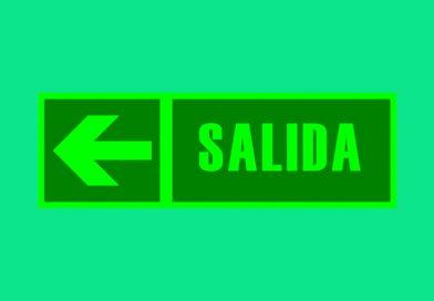 Fotoluminiscente 085 SALIDA