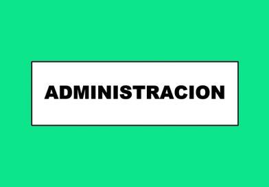 Información 078 ADMINISTRACION