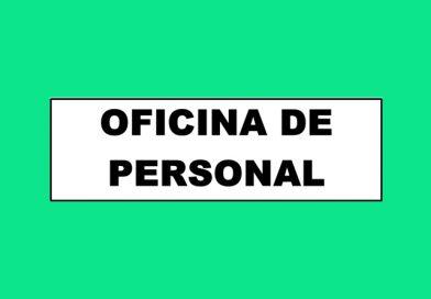 Información 080A OFICINA DE PERSONAL