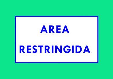 Información 200 AREA RESTRINGIDA