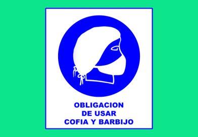 Obligación 015 DE USAR COFIA Y BARBIJO