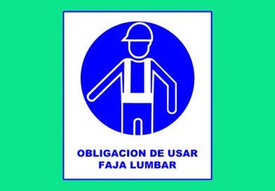 Obligación 016 DE USAR FAJA LUMBAR