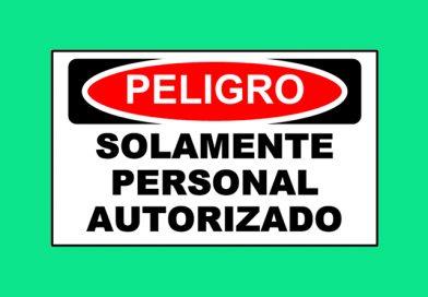 Peligro 1346 SOLAMENTE PERSONAL AUTORIZADO