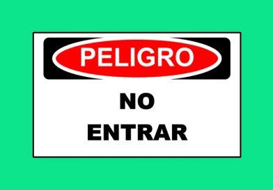 Peligro 1350 NO ENTRAR
