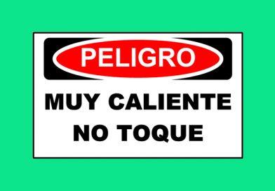 Peligro 1352 MUY CALIENTE NO TOQUE