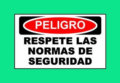 Peligro 1353 RESPETE LAS NORMAS DE SEGURIDAD