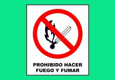 Prohibido 041 HACER FUEGO Y FUMAR