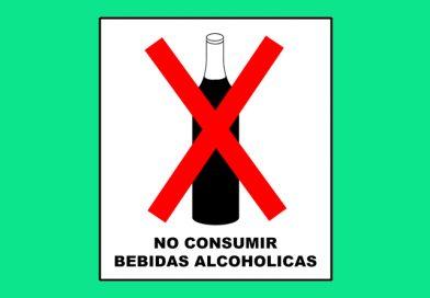 Prohibido 046 NO CONSUMIR BEBIDAS ALCOHOLICAS