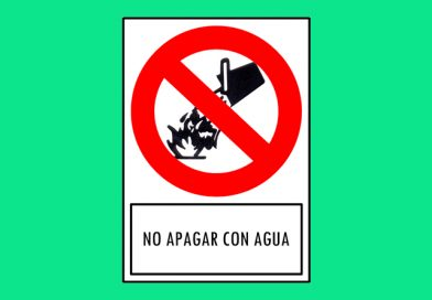 Prohibido 173 NO APAGAR CON AGUA