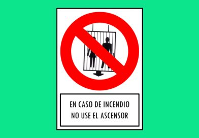 Prohibido 175 EN CASO DE INCENDIO NO USE EL ASCENSOR