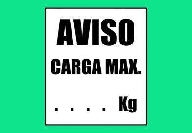 Seguridad 0039 AVISO CARGA MAX. KG