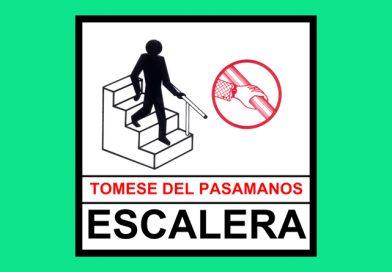 Seguridad 0076 TOMESE DEL PASAMANOS ESCALERA