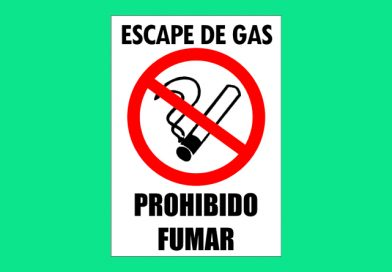 Vial V08 ESCAPE DE GAS PROHIBIDO FUMAR